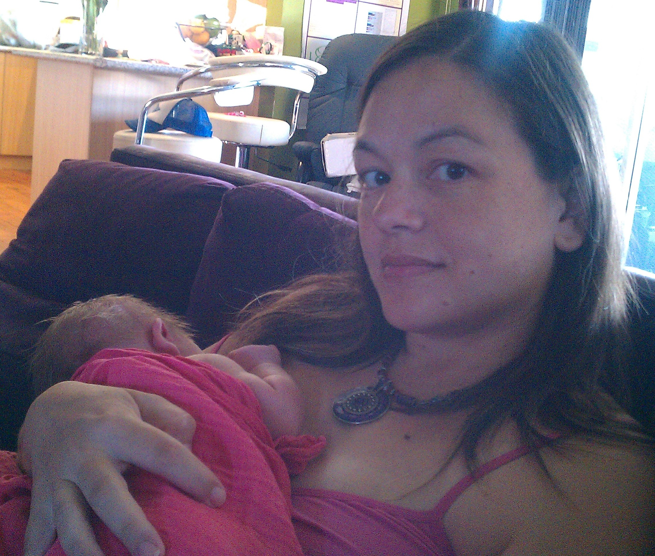 River and me the morning after birth